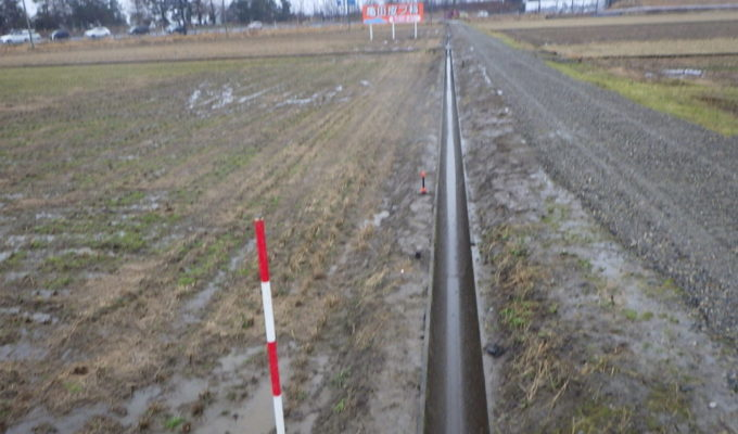 手代山地内用水路改修工事