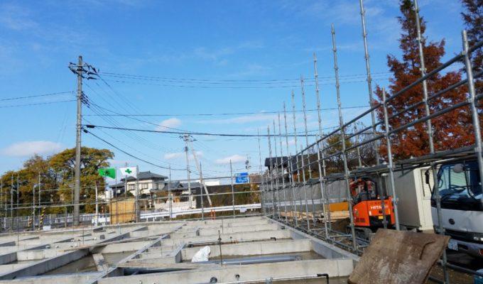 松潟の園新築工事(足場工事)