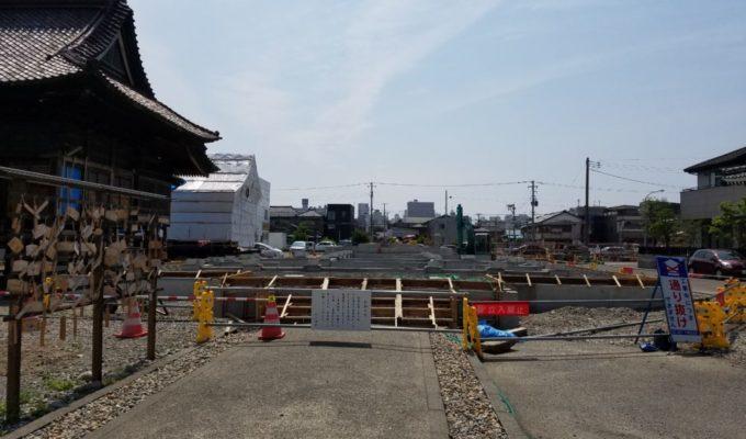 沼垂白山神社改修工事(基礎工事)