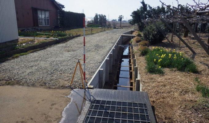 手代山地内排水路土留改修工事