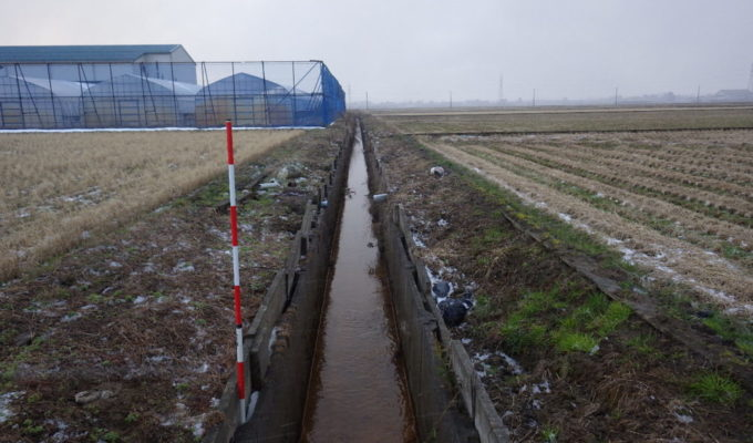 所島地内排水路底打ち工事