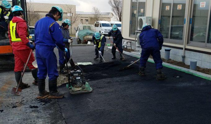 松潟の園舗装工事