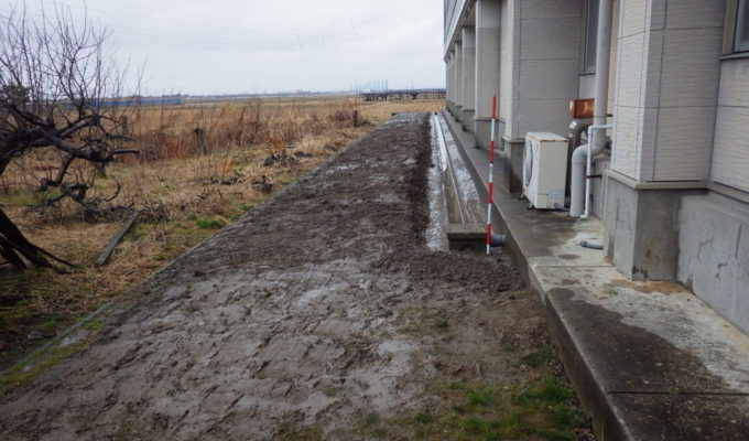 横越体育センター排水設備工事